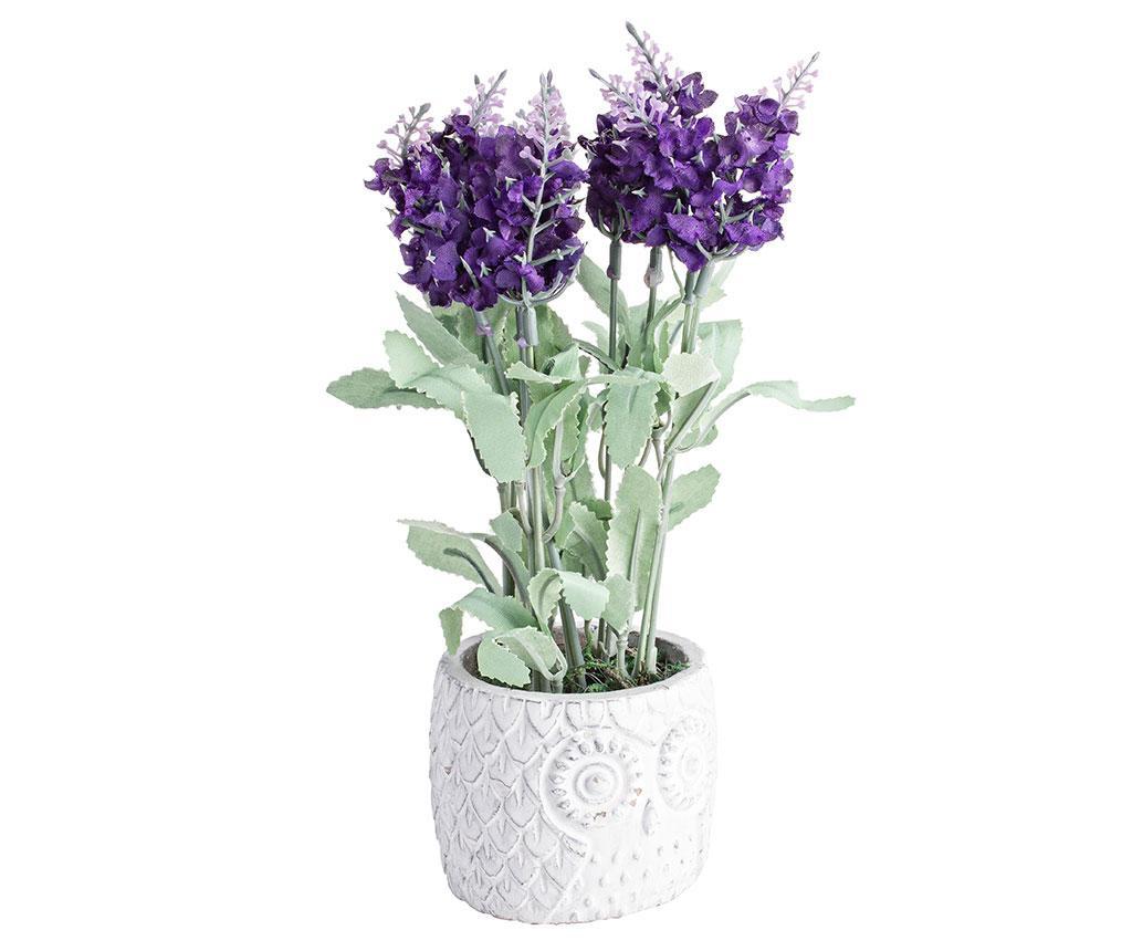 Floare artificiala in ghiveci Owl Purple
