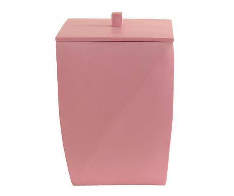 Κάδος απορριμάτων με καπάκι Karya Pink Powder 5 L