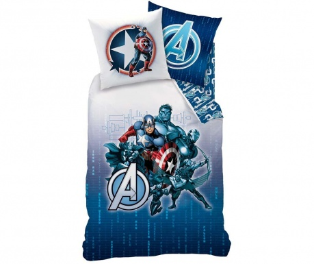 Set de pat Single Ranforce Avengers Blue Code