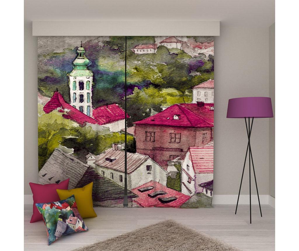 Set 2 zastorov Painting 135x250 cm