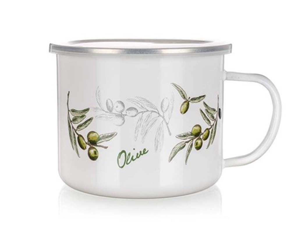 Cana cu capac Olives 500 ml