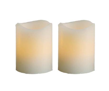 Zestaw 2 świeczki  z diodą LED Twins