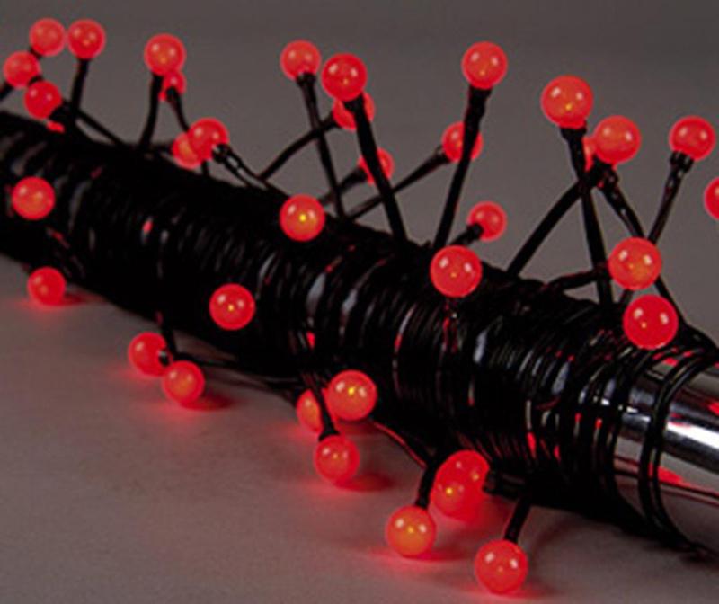 Ghirlanda luminoasa pentru exterior Red Bulbs