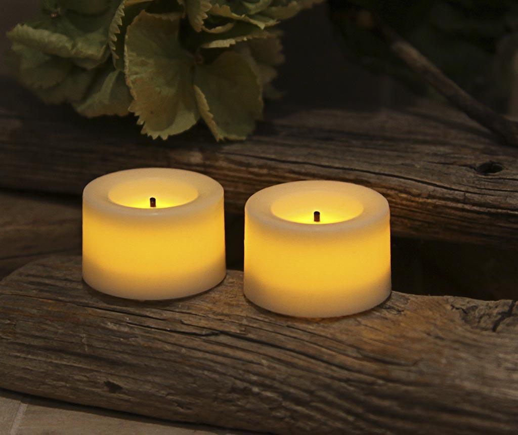 Set 2 svijeće sa LED-om Lasi
