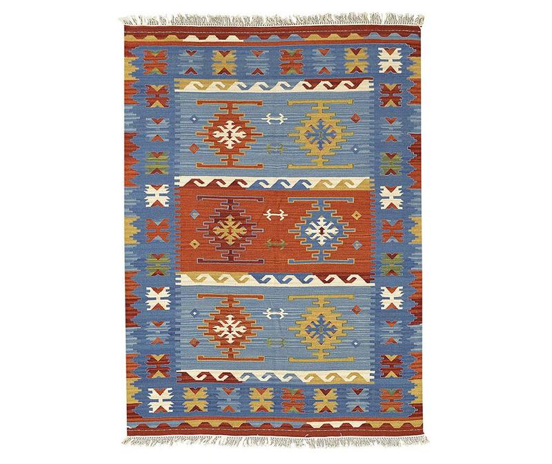 Koberec Kilim Macario Blue 125x185 cm