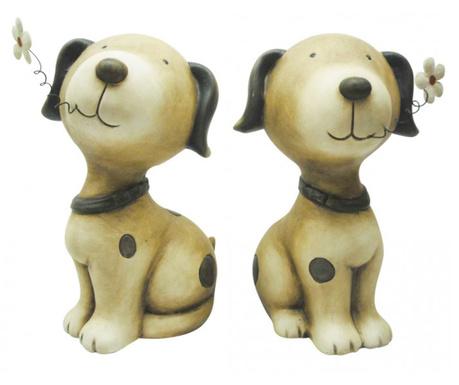 Σετ 2 διακοσμητικά για εξωτερικό χώρο Cute Doggy
