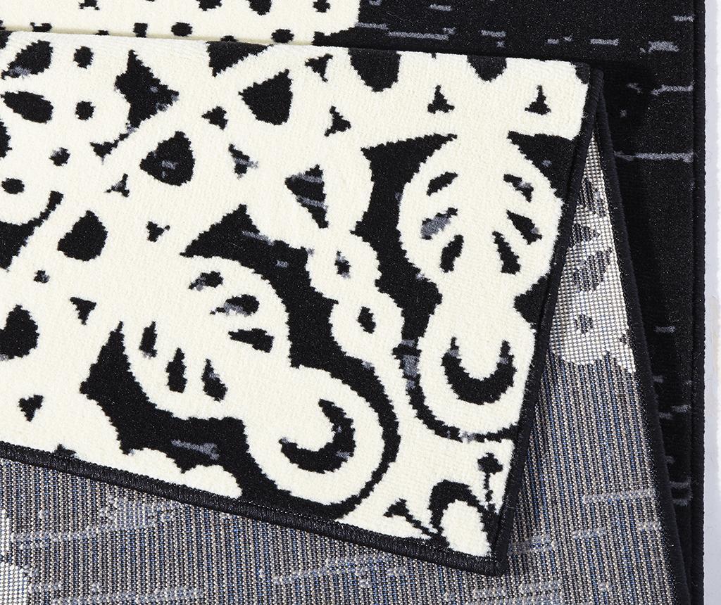 Covor Lace Black and Cream 120x170 cm