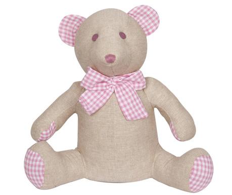 Ribbon Bear Pink Ajtótámasz