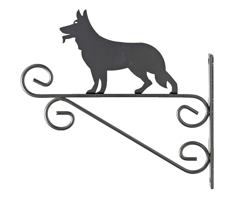 Stensko stojalo za cvetlični lonec Dog