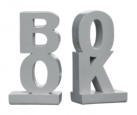 Sada 2 zarážok ku knihám Book Grey