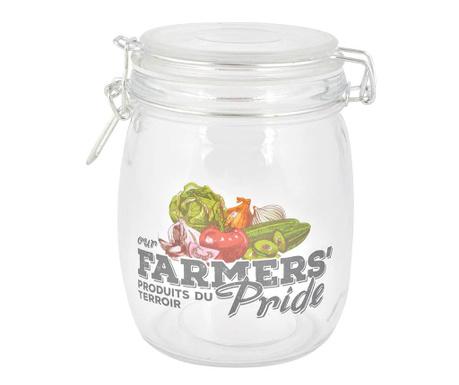 Zavařovací sklenice s hermetickým víkem Farmers Pride 720 ml