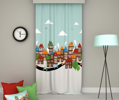 Draperie Winter City 140x250 cm