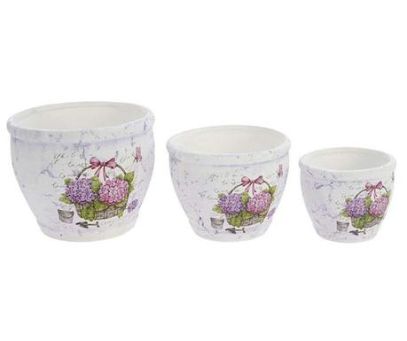 Violette 3 darab Virágcserép