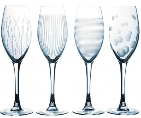 Set 4 kozarcev za šampanjec Lounge 220 ml