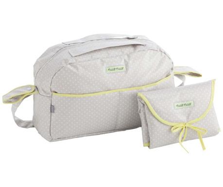 Sada taška a skládací matrace na přebalování Elephant Green