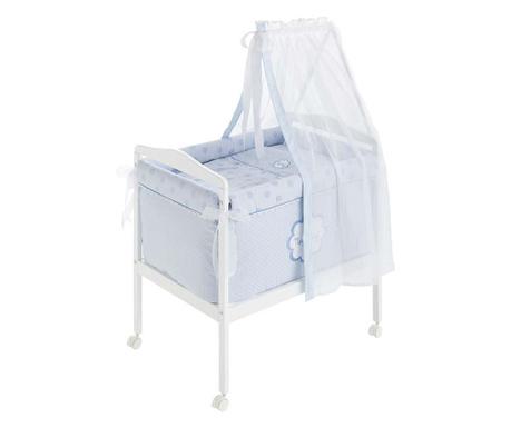 Zestaw łóżeczko z baldachimem i akcesoria Tres Chic Blue