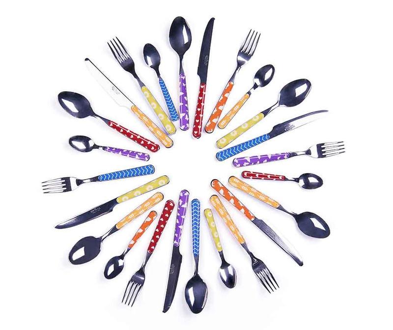Enjoy Multicolor 24 darabos Evőeszköz készlet