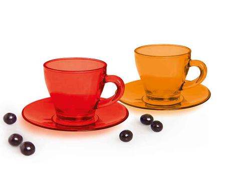 Zestaw 6 filiżanek i 6 talerzyków do kawy Grace