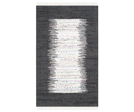 Saltillo Ivory Black Rongyszőnyeg