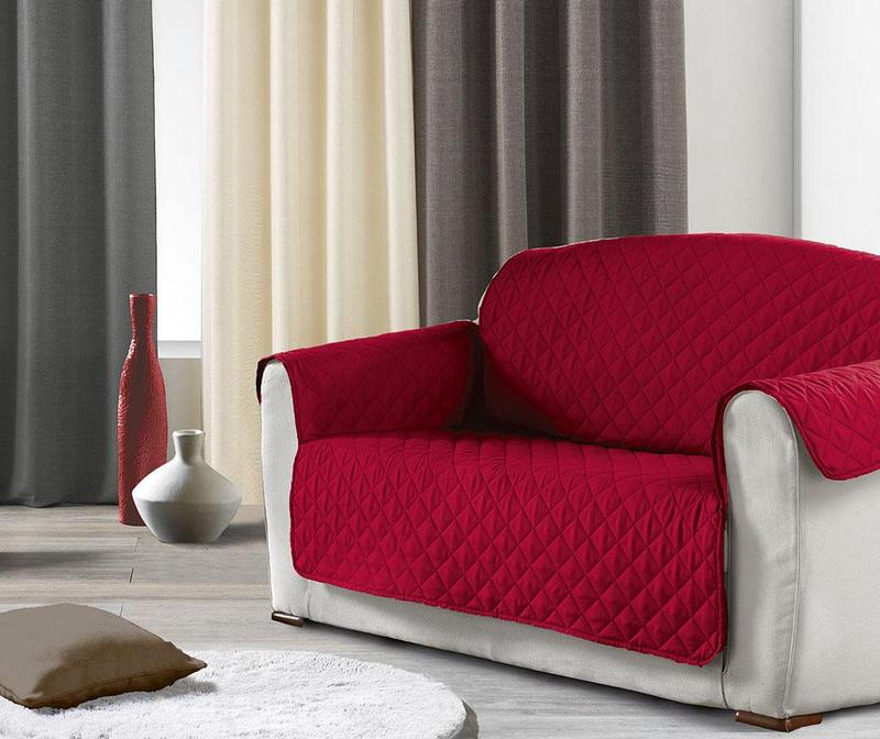 Husa matlasata pentru canapea Club Red 179x223 cm