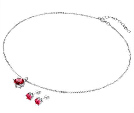 Red Spark Fülbevaló és nyaklánc függővel