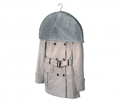 Zaščitna vreča za ramenski del oblek Grey Dots
