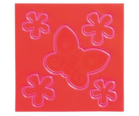 Комплект 5 флуоресцентни стикера Butterfly and Flowers