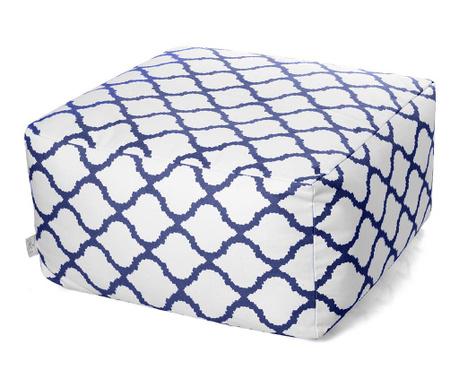 Sedací puf Soraya White Blue 60x60 cm