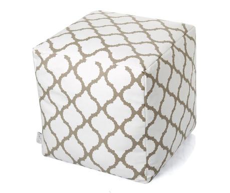 Puff seat Asha White Taupe