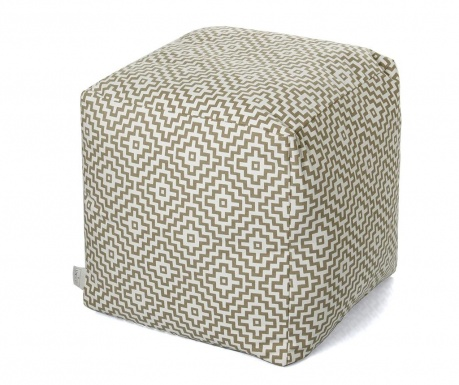 Puff seat Shanti White Taupe