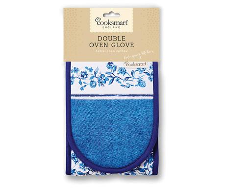 Podwójna rękawica kuchenna Blue Style