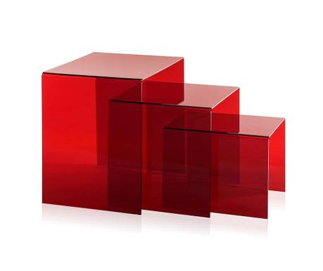 Sada 3 stolků Trix Red