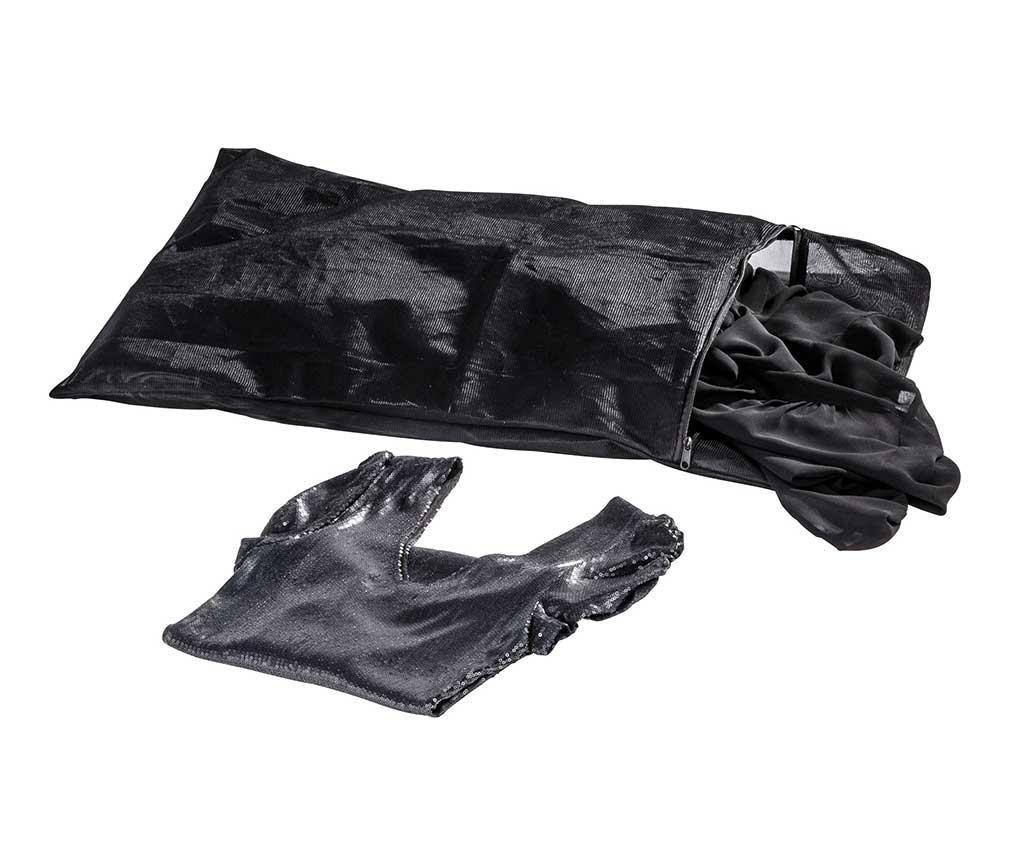 Saculet pentru spalat rufe Simply Black 50x70 cm