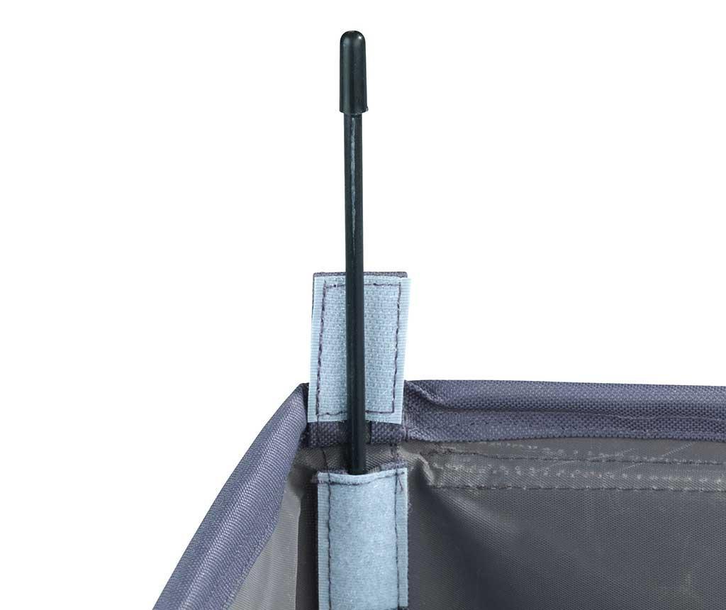 Cos cu capac pentru rufe Trivo Grey 116 L