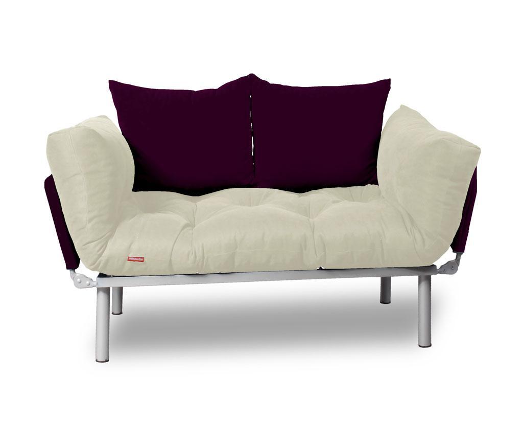 Sofa extensibila Relax Cream Plum