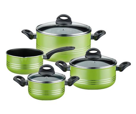 Комплект  съдове за готвене  7 части Milano Green
