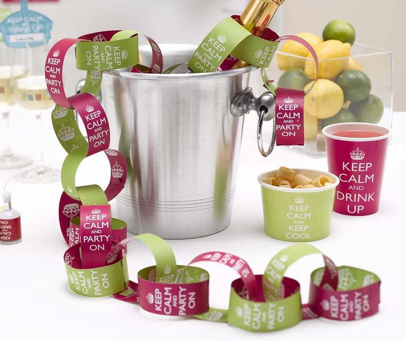 Set 50 samoljepljivih etiketa Party On Pink & Lime