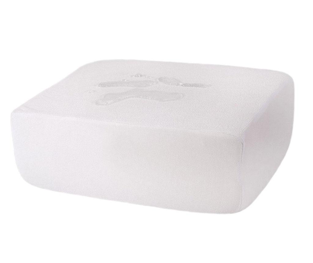 Husa impermeabila pentru saltea Plain White 160x200 cm