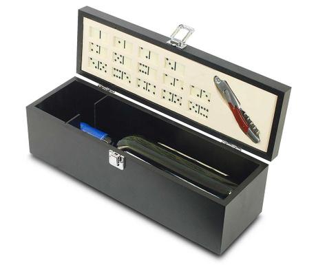 Sada domino hra a otvírák na láhve v krabici Errol