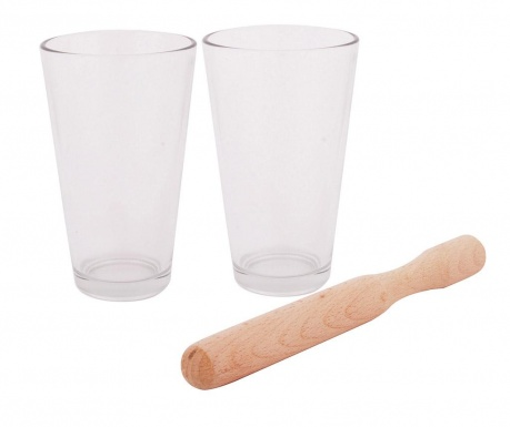 Sada 2 sklenic a tlouček Mojito