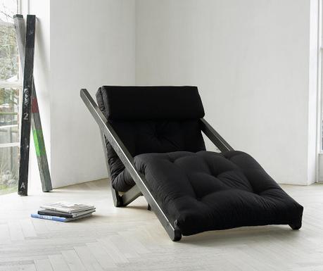 Ležaljka na razvlačenje za dnevni boravak Figo Wenge & Black