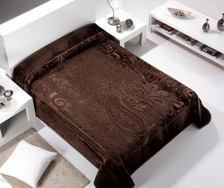 Κουβέρτα Paisley Brown 220x240 cm