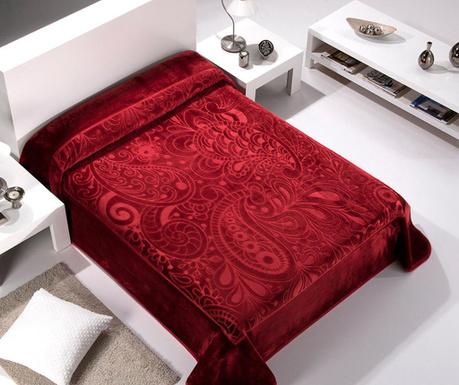 Κουβέρτα Paisley Bordeaux