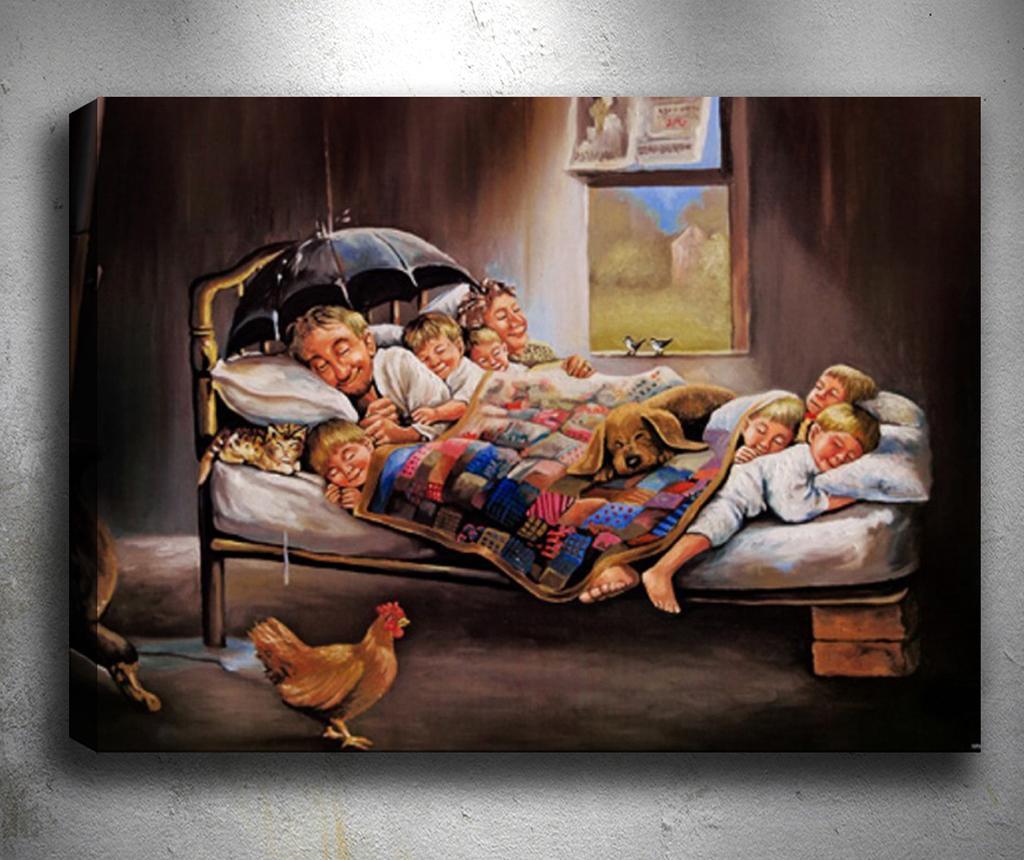 3D slika Happy Family 50x70 cm