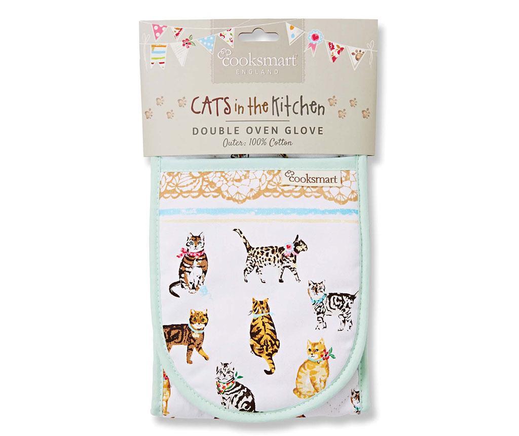 Dvojna kuhinjska rokavica Cats on Parade