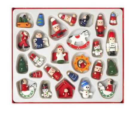 Traditional Christmas 26 db Felfüggeszthető dekoráció