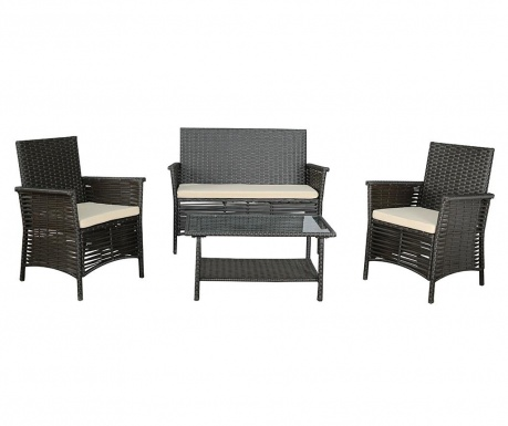 Set mobilier pentru exterior 4 piese Garden Brown