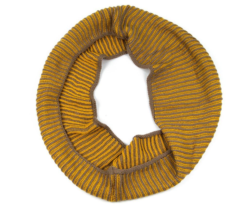Cevast zimski ženski šal Knit Yellow 30x140 cm