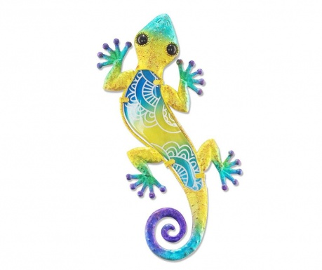 Decoratiune de perete Half on Lizard Yellow