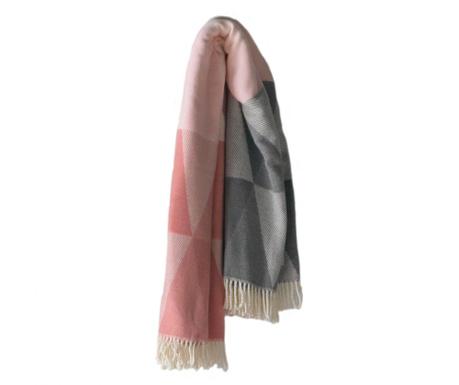 Pisa Pink & Grey Pléd 140x180 cm